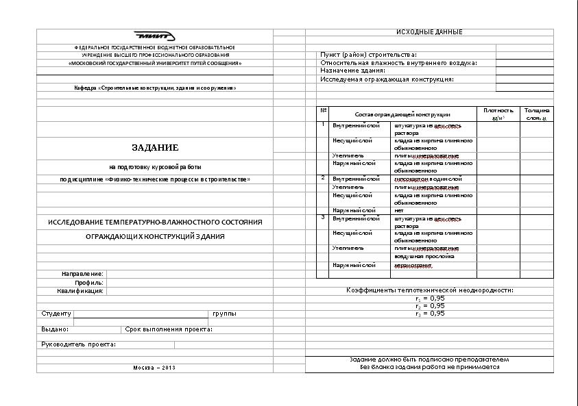 Курсовая работа для МГУПС МИИТ Кому нужно  Оформление титульного листа курсовой работы Задание для студента на курсовую работу