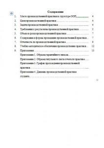 Отчет по практике - структура